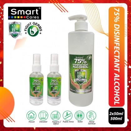 Smart Hand Sanitizer 75% Disinfectant Alcohol (50ml,100ml,500ml)