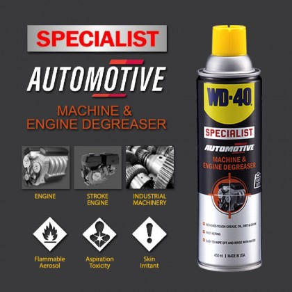 WD-40 Specialist Automotive Machine and Engine Degreaser 450ml